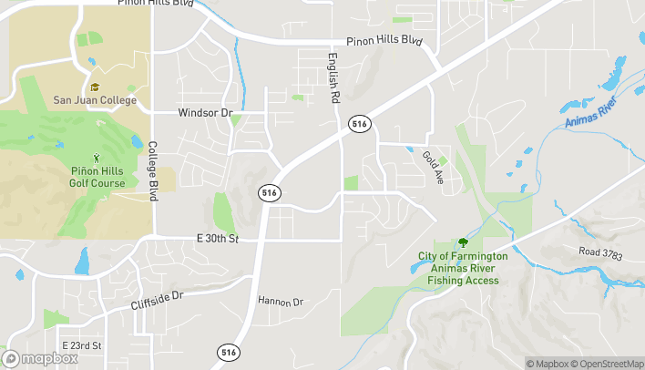 Map of 4601 E Main St in Farmington