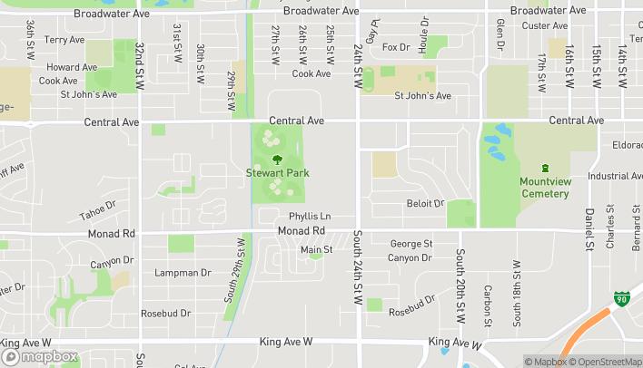 Mapa de 300 S 24th St W en Billings