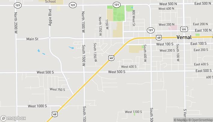 Mapa de 1152 W Hwy 40 en Vernal