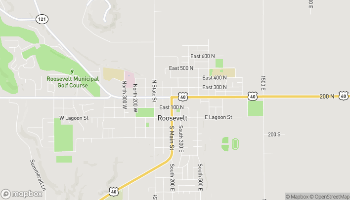 Map of 192 North 200 East in Roosevelt