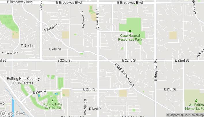 Map of 9565 E 22nd St in Tucson