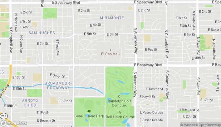 Mapa de 3587 E Broadway en Tucson