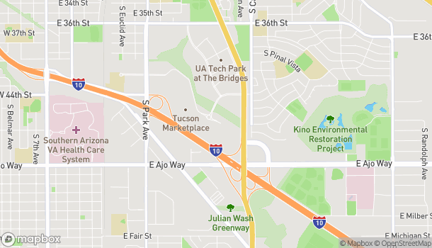 Map of 1570 E Tucson Marketplace in Tucson