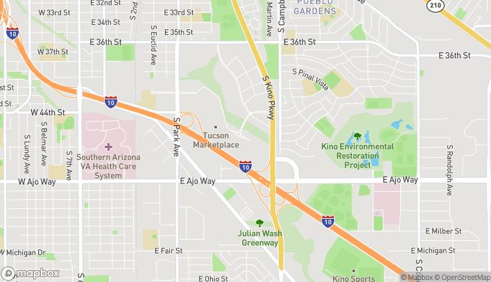 Mapa de 1570 E Tucson Marketplace en Tucson