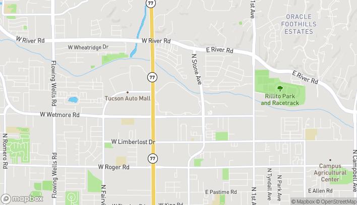 Map of 4500 N Oracle Road in Tucson