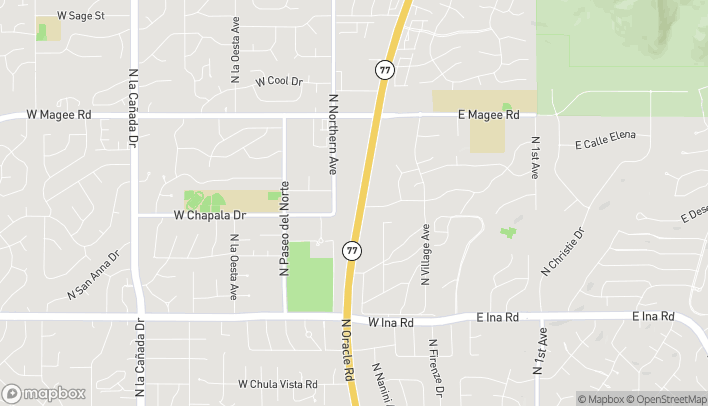 Map of 7619 N Oracle Rd in Tucson