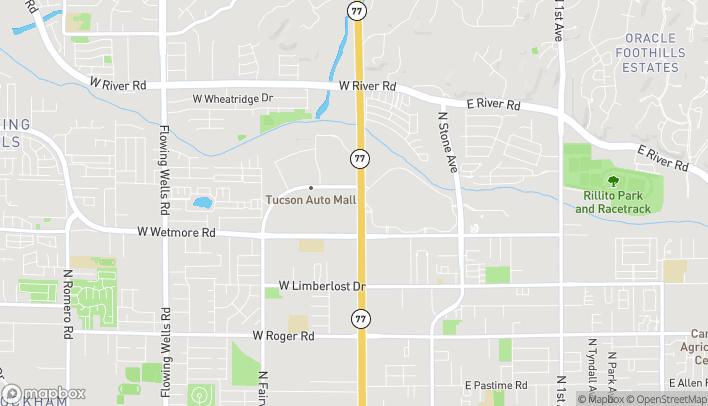 Mapa de 4545 N Oracle Rd en Tucson