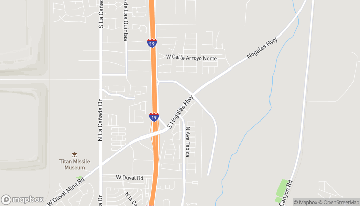 Mapa de 18726 S Nogales Hwy en Green Valley