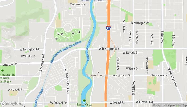 Mapa de 1217 W Irvington Rd en Tucson