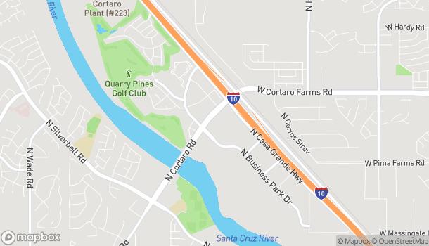 Map of 8250 N Cortaro Rd in Tucson