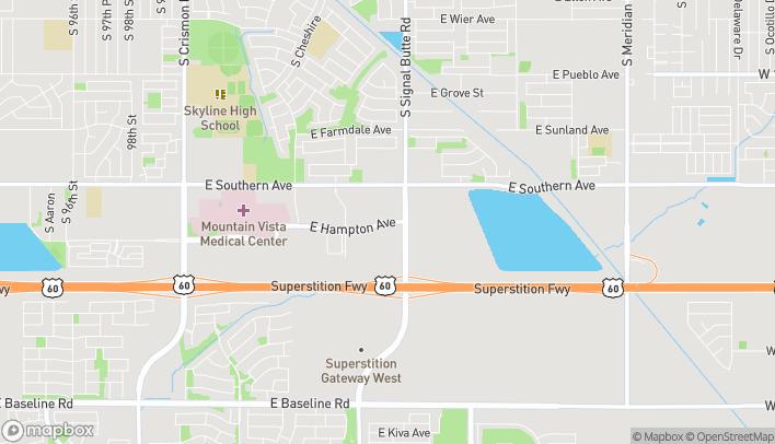 Mapa de 1226 S Signal Butte Rd en Mesa