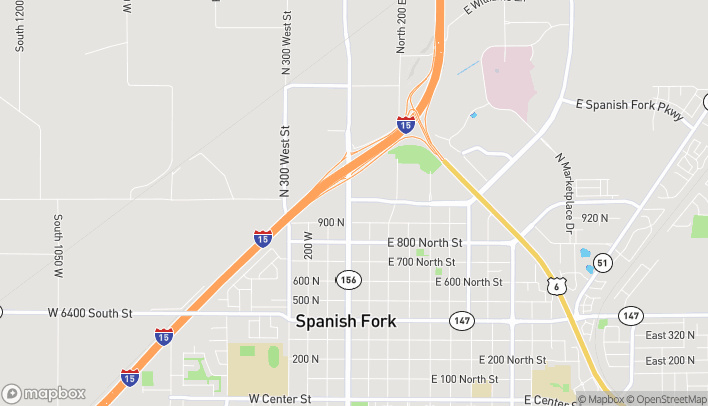 Map of 982 N Main St in Spanish Fork