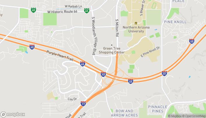 Map of 2700 S Woodlands Village Blvd in Flagstaff