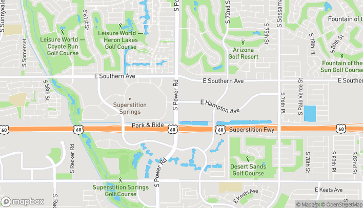 Map of 1411 South Power Road in Mesa
