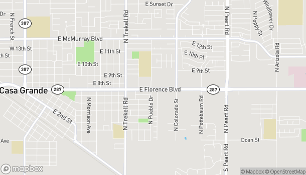 Map of 1202 E. Florence Blvd in Casa Grande