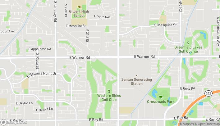 Map of 1505 E Warner Rd in Gilbert