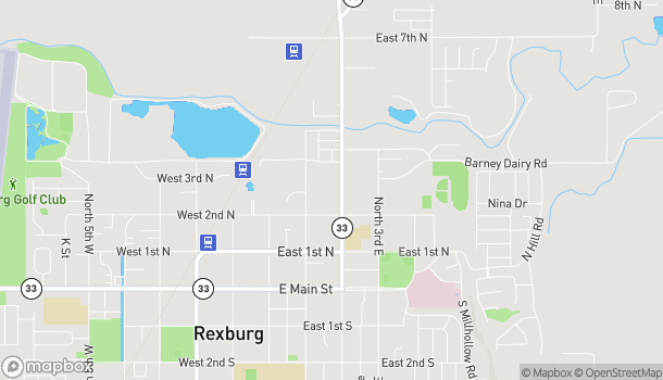 Map of 261 N 2nd E Ave in Rexburg
