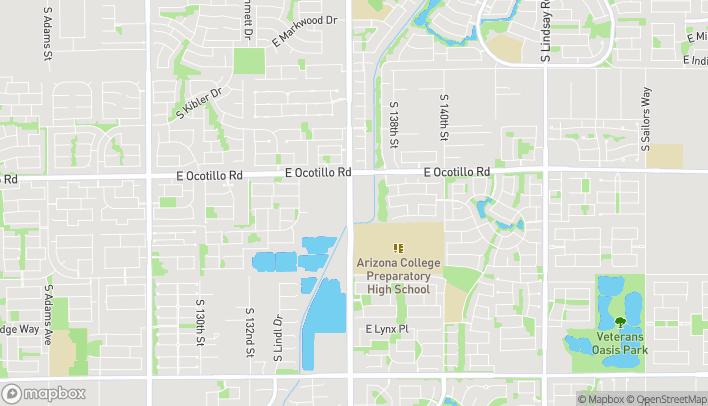 Map of 4145 S Gilbert Road in Chandler