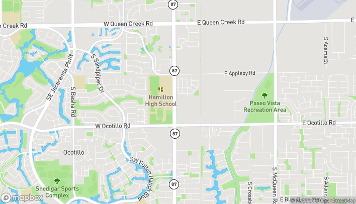 Map of 3731 S Arizona Ave in Chandler