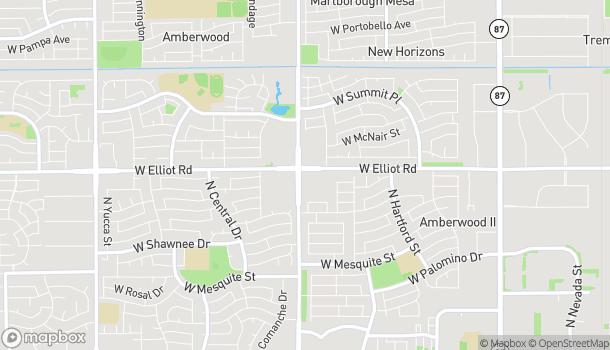 Map of 995 W Elliot Rd in Chandler
