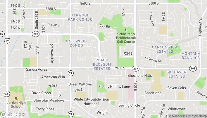 Map of 9306 S Village Shop Dr in Sandy
