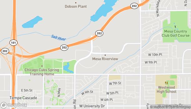 Mapa de 929 N Dobson Rd en Mesa