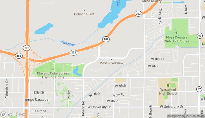 Map of 929 N Dobson Rd in Mesa