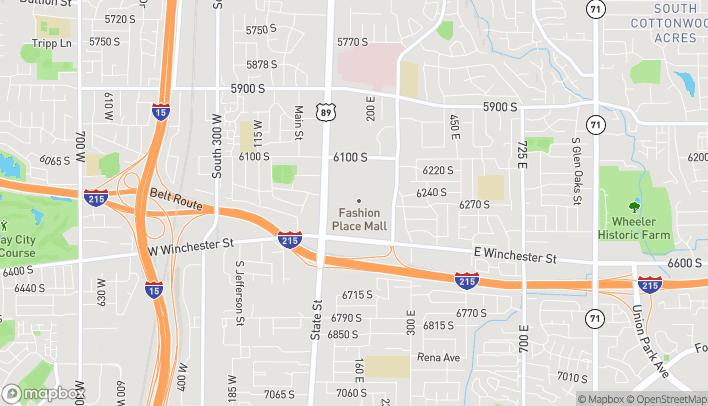 Mapa de 6227 S. State Street en Murray