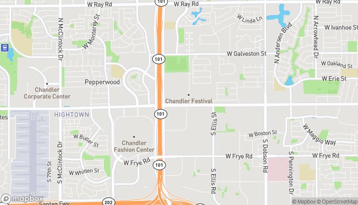 Mapa de 2780 W Chandler Blvd en Chandler