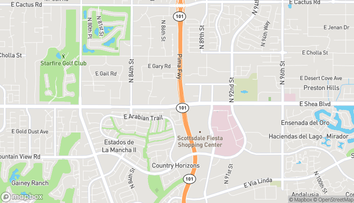 Mapa de 8776 E Shea Blvd en Scottsdale