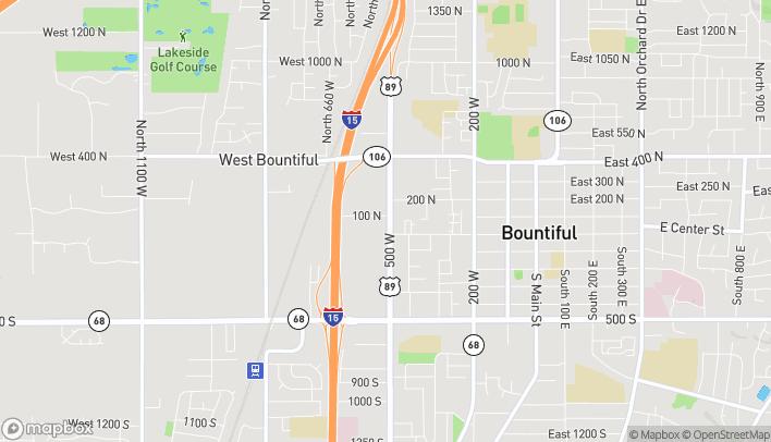 Mapa de 71 N 500 W en West Bountiful