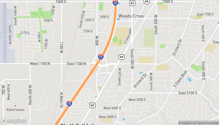 Map of 618 W 2600 S in Woods Cross