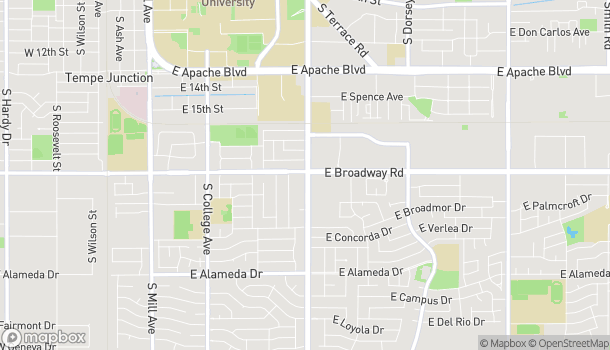 Map of 737 E Broadway Road in Tempe