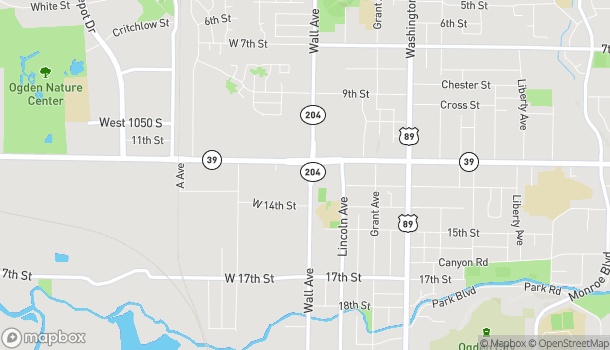 Map of 1263 Wall Ave in Ogden