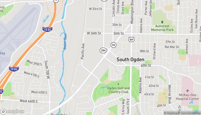 Map of 4025 Riverdale Road in Ogden