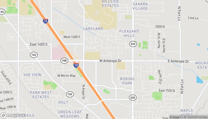 Map of 2035 Harris Blvd in Layton
