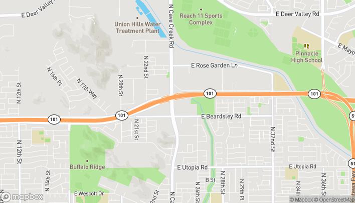 Map of 20235 N Cave Creek Rd in Phoenix