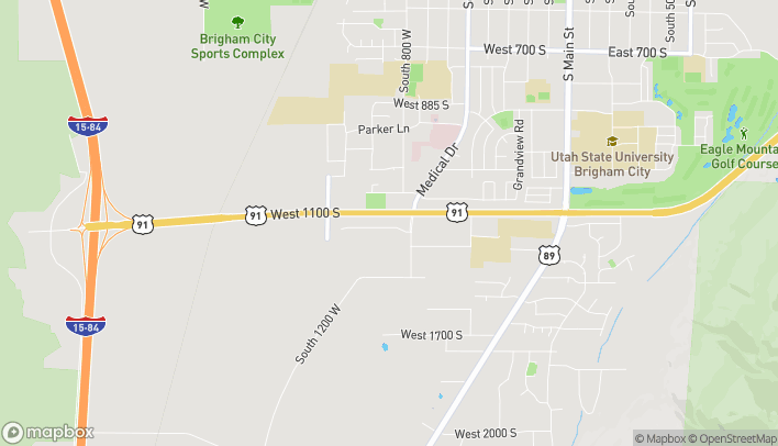 Mapa de 855 W 1100 S en Brigham City