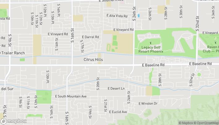 Mapa de 2070 E Baseline Rd en Phoenix