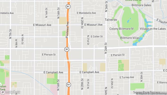 Mapa de 2002 E Camelback Rd en Phoenix