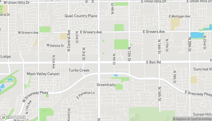 Mapa de 748 E Bell Rd en Phoenix