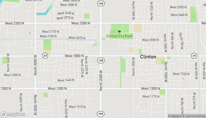 Map of 1776 N 2000 W in Clinton