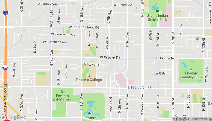 Map of 3350 N 7th Ave in Phoenix