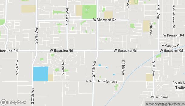 Map of 1909 W Baseline Rd in Phoenix