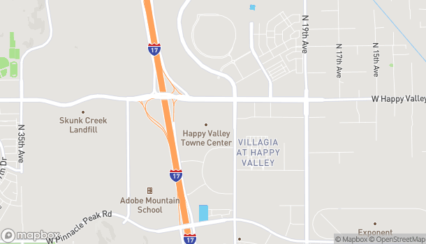 Map of 2501 W Happy Valley Rd in Phoenix
