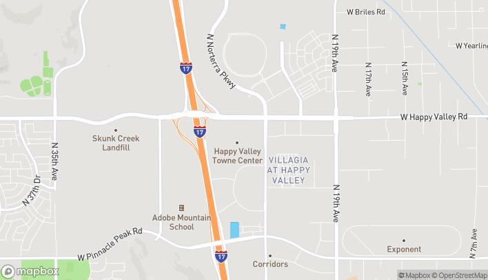 Map of 2501 W Happy Valley Rd in Phoenix