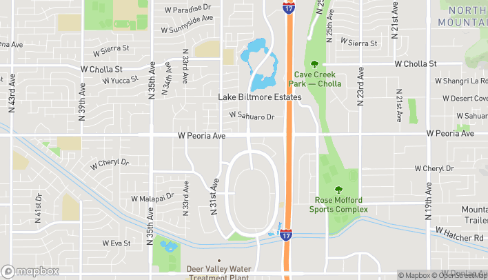 Map of 10460 N. 28th Drive in Phoenix
