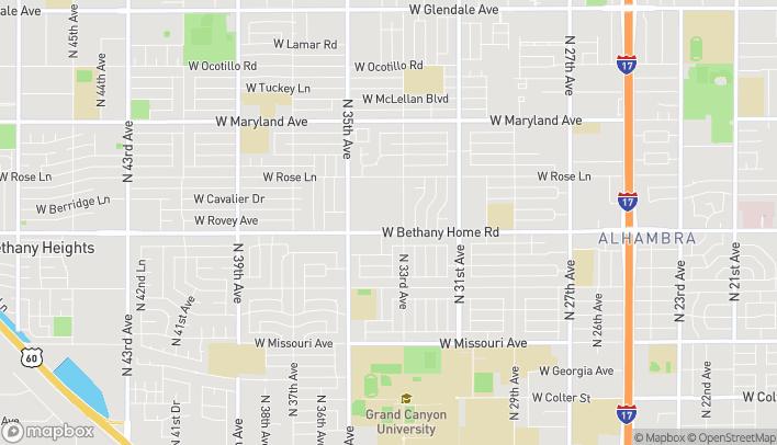 Mapa de 3320 W Bethany Home Road en Phoenix