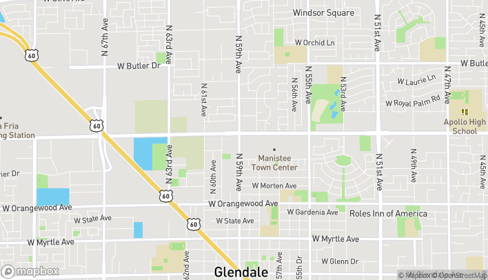 Map of 5849 W Northern Ave in Glendale