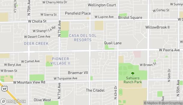 Mapa de 6649 W Peoria en Glendale
